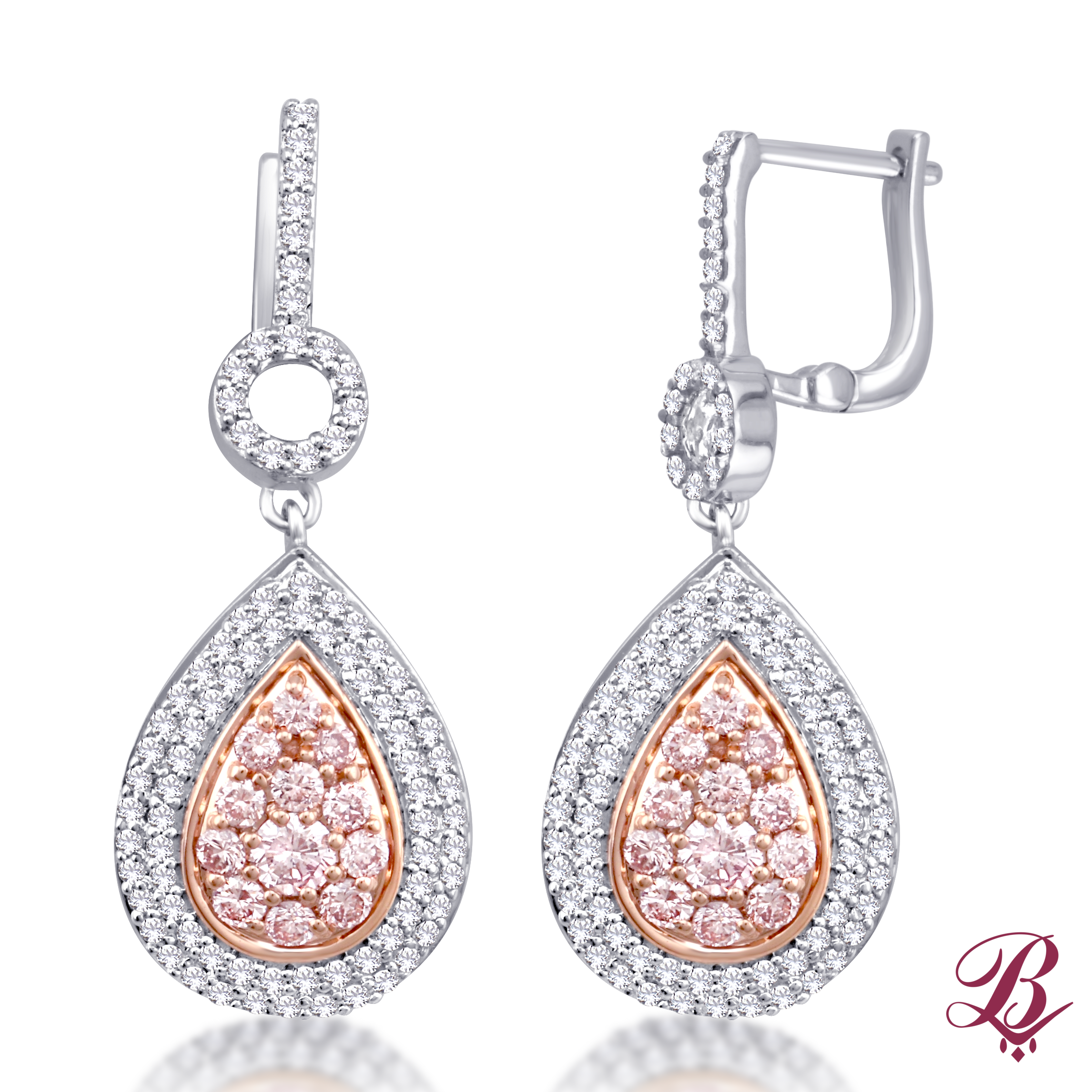 shaped diamonds g white out of gold shape pear h color product earrings sold center
