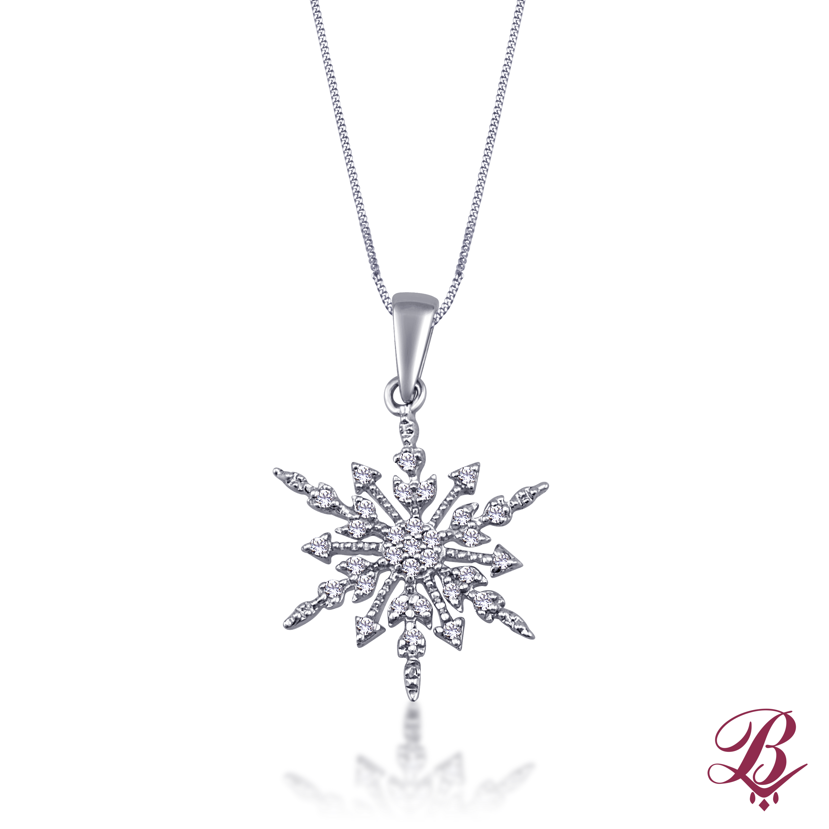 oioi pink necklace snowflake crystal jewelry web pendant en